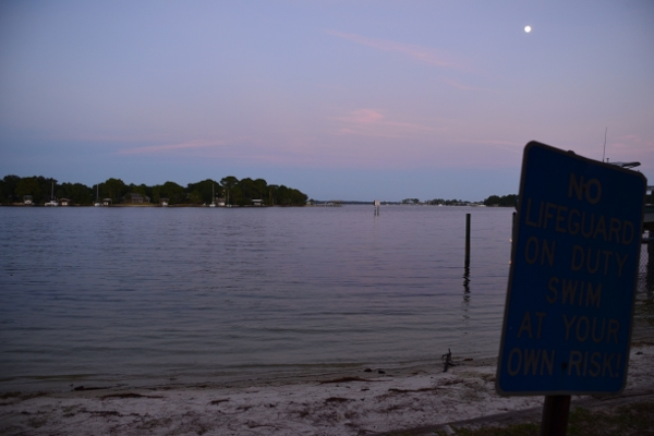 Cinco Bayou at dusk from Laguna Park, Photo by Lee Dupraw